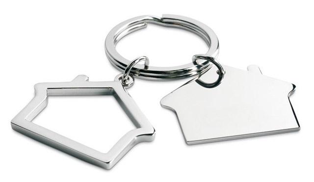 Obesek za ključe - hiša