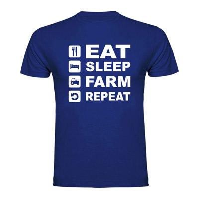 Smešna majica - Eat, Sleep, Farm, Repeat