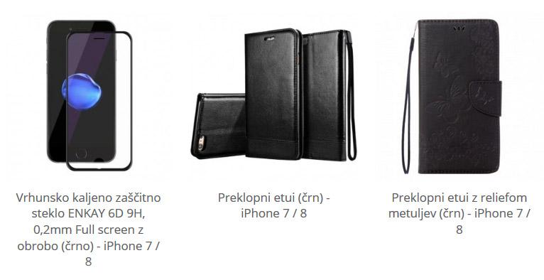 Ovitki za iPhone 7 in 8