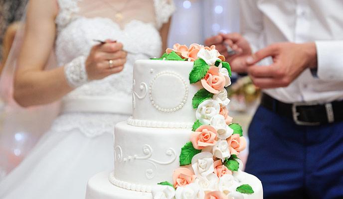 Popolna poročna torta
